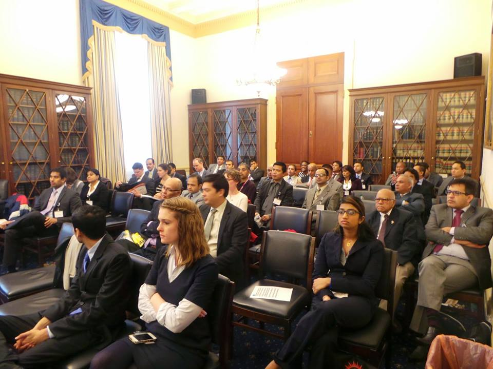 Audience of panel discussion at Capitol Hill