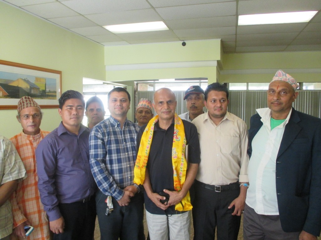 Dr. Dhakal with Bhutanese community leaders of Columbus, OH