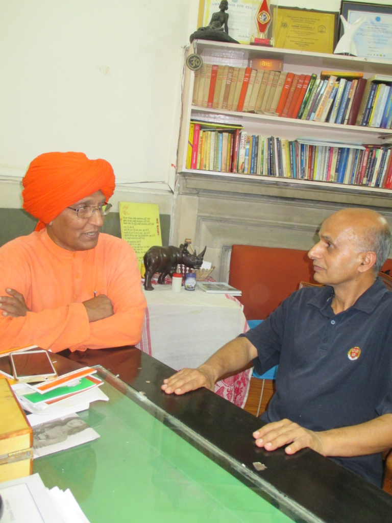 Dr. DNS Dhakal meeting with Swami Agnivesh.